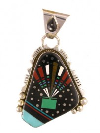 Inlay Pendant by Ray Jack, Navajo